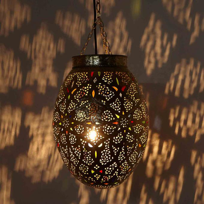 H ngeleuchte majida bei ihrem orient shop casa moro for Marokkanische messinglampen