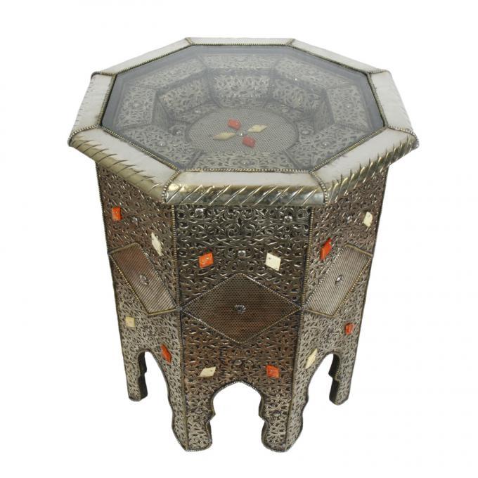marokkanischer holz beistelltisch kamal bei ihrem orient shop casa moro. Black Bedroom Furniture Sets. Home Design Ideas