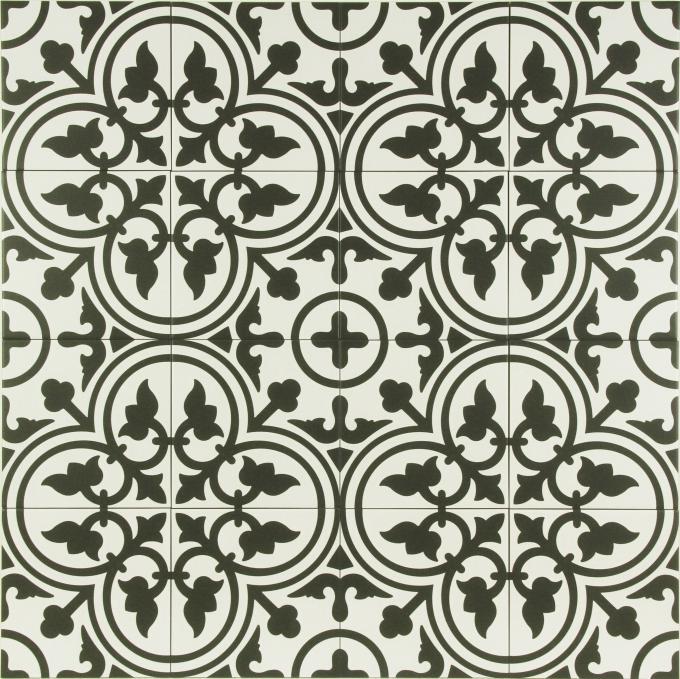 marokkanische fliese yunes schwarz bei ihrem orient shop. Black Bedroom Furniture Sets. Home Design Ideas