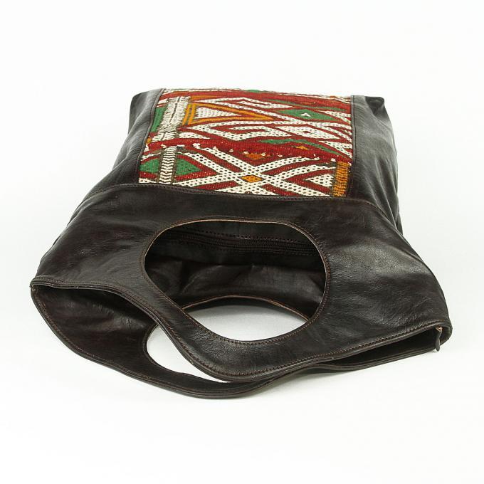 damen ledertasche mit kelim bei ihrem orient shop casa moro. Black Bedroom Furniture Sets. Home Design Ideas