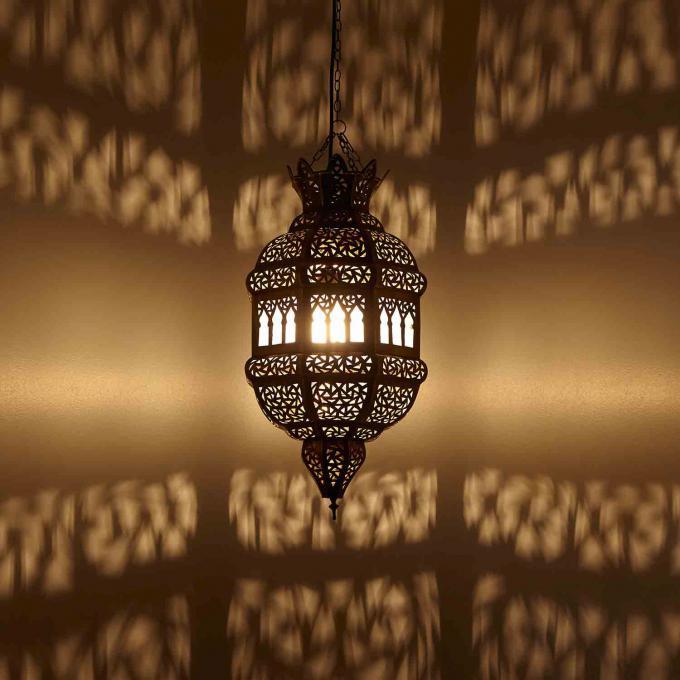 Messinglampe fatima bei ihrem orient shop casa moro for Orientalische messinglampe