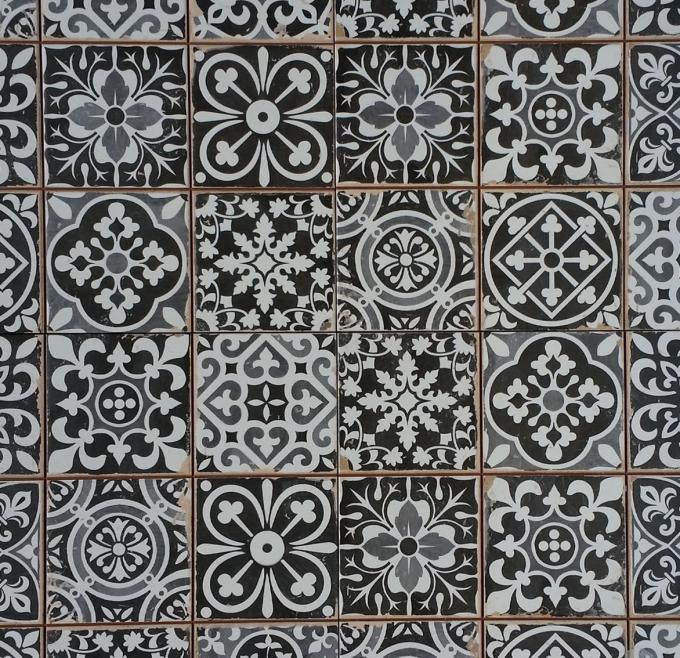 Marokkanische fliesen rahel schwarz patchwork bei ihrem orient shop casa moro - Fliesen patchwork ...