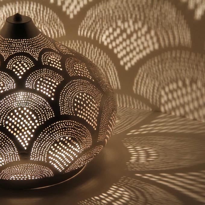 Orientalische Stehlampe Silber Lampe Bodenlampe Tischlampe Leuchte Aswan D22