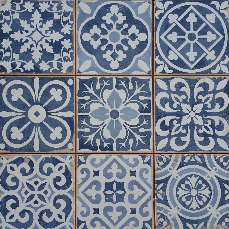 Marokkanische Fliesen Rahel Blau Patchwork Bei Ihrem Orient Shop