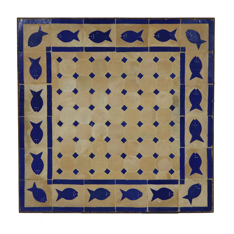 mosaiktisch 60x60 fisch blau bei ihrem orient shop casa moro. Black Bedroom Furniture Sets. Home Design Ideas