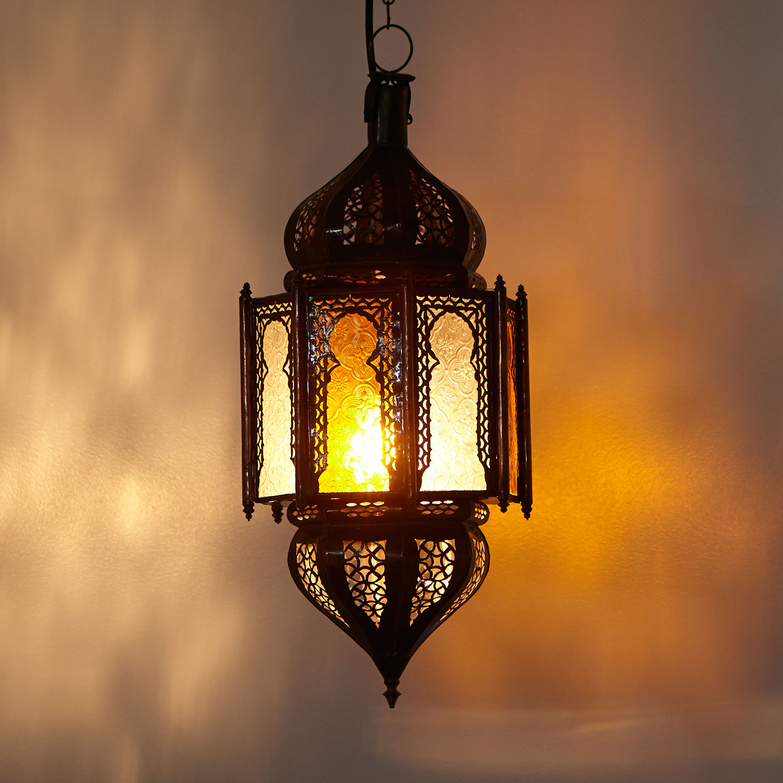 Orientalische deckenlampe haniya gelbwei for Orientalische deckenlampe