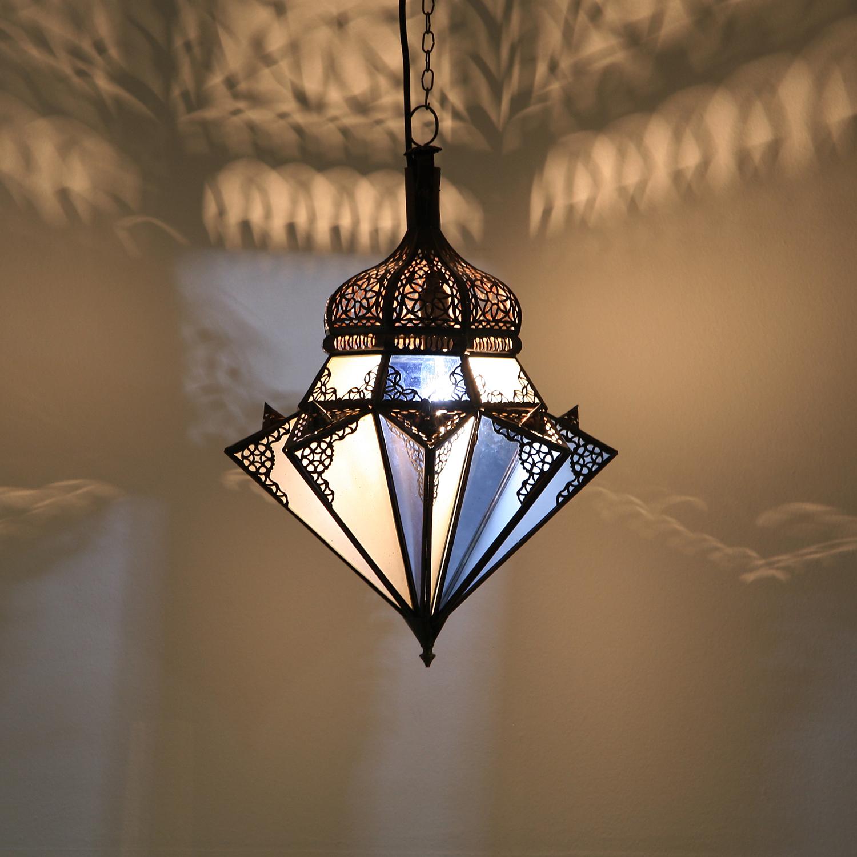 h ngeleuchte jawhara blau wei bei ihrem orient shop casa moro. Black Bedroom Furniture Sets. Home Design Ideas