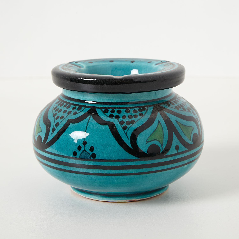 keramik aschenbecher t rkis bei ihrem orient shop casa moro. Black Bedroom Furniture Sets. Home Design Ideas