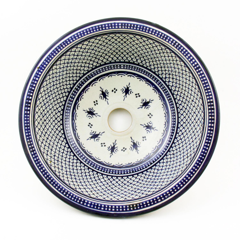 Orientalisches Handbemaltes Keramik Waschbecken Fes32