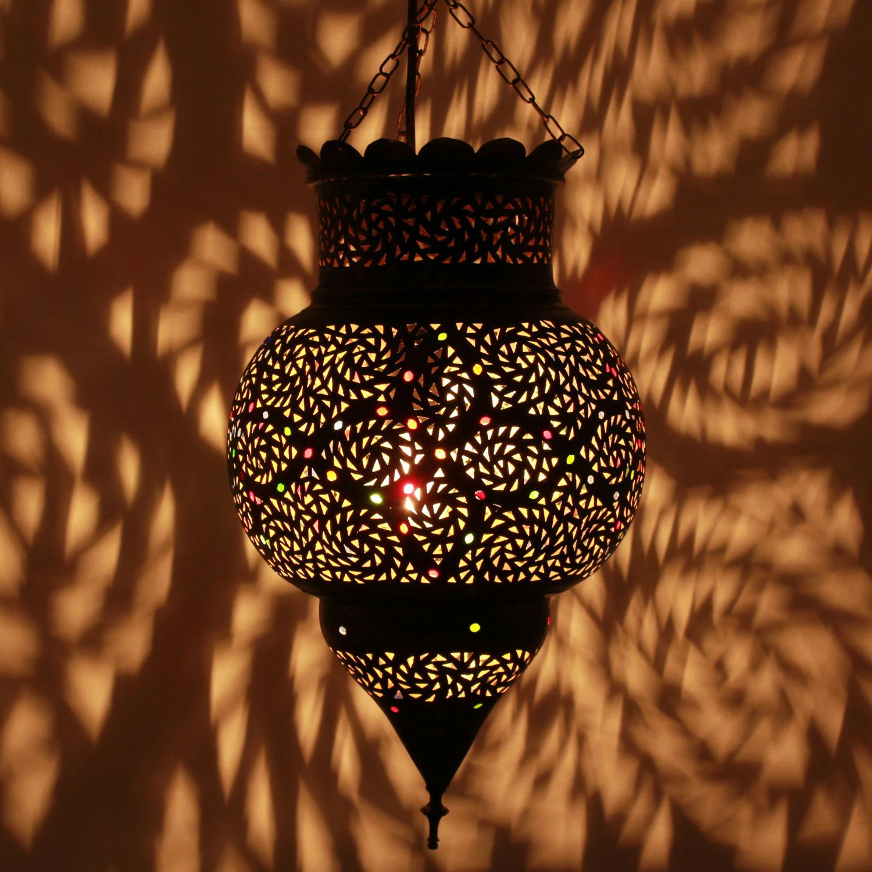 H ngeleuchte koura mittel bei ihrem orient shop casa moro - Marokkanische bodenfliesen ...