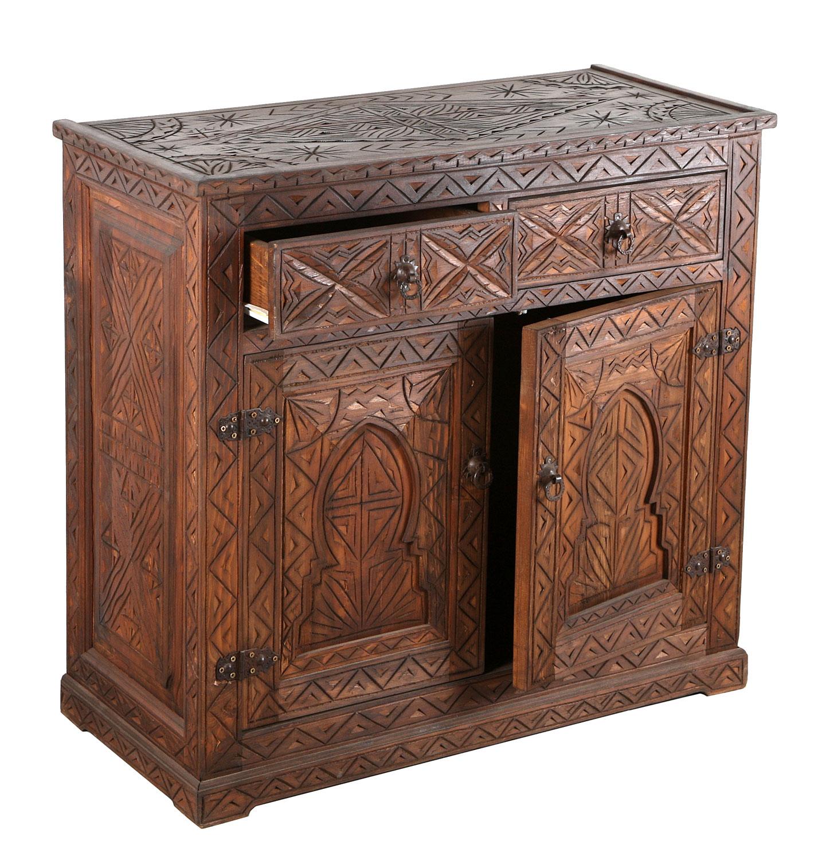 marokkanische holz kommode basim bei ihrem orient shop. Black Bedroom Furniture Sets. Home Design Ideas