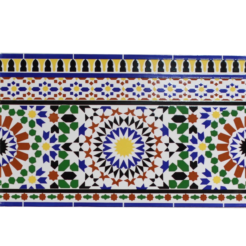 Orientalische wand fliesen bord re alhamra bei ihrem orient shop casa moro - Orientalische fliesen ...
