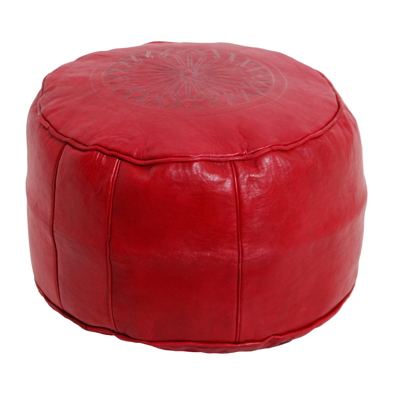marokkanische leder sitzkissen asli rot bei ihrem orient. Black Bedroom Furniture Sets. Home Design Ideas