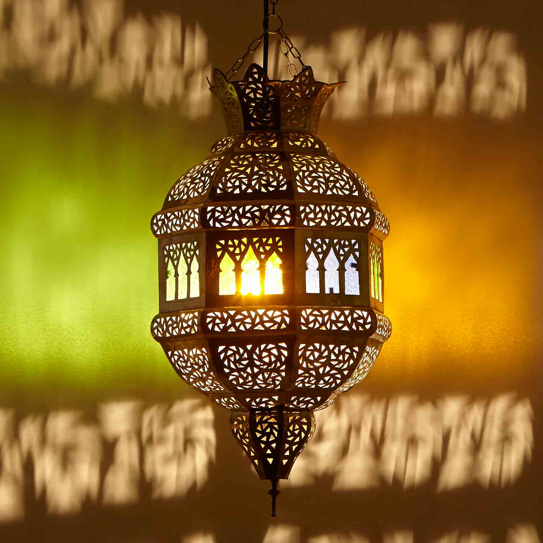 Messinglampe fatima multi bei ihrem orient shop casa moro for Marokkanische messinglampen