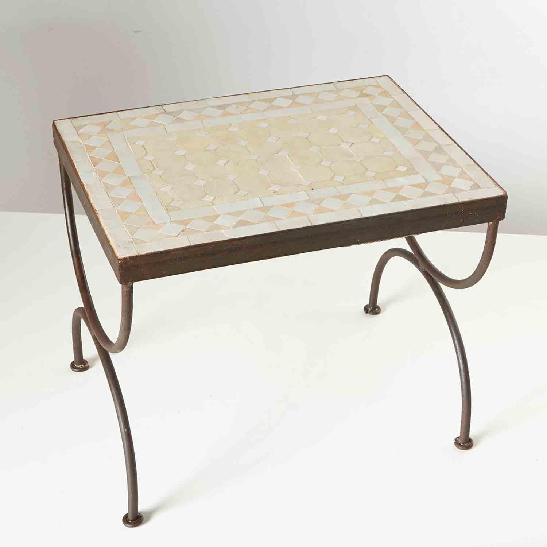 Mosaik beistelltisch l44 weiss terracotta bei ihrem for Mosaik beistelltisch