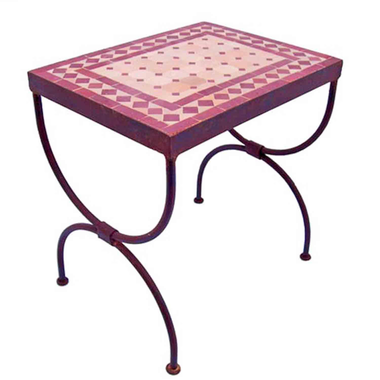 Mosaik beistelltisch l50 bordeaux terracotta bei ihrem for Mosaik beistelltisch