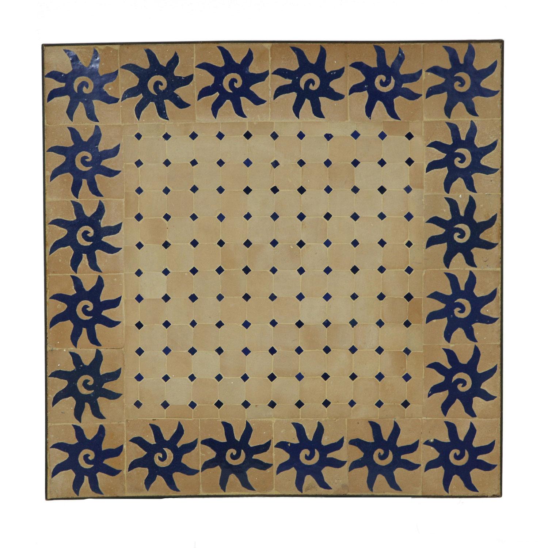 mosaiktisch 60x60 blau sonne bei ihrem orient shop casa moro. Black Bedroom Furniture Sets. Home Design Ideas