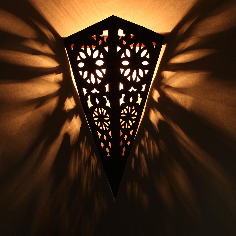 Orientalische eisen wandlampe ewl07 arabische lampe for Orientalische wandlampen metall