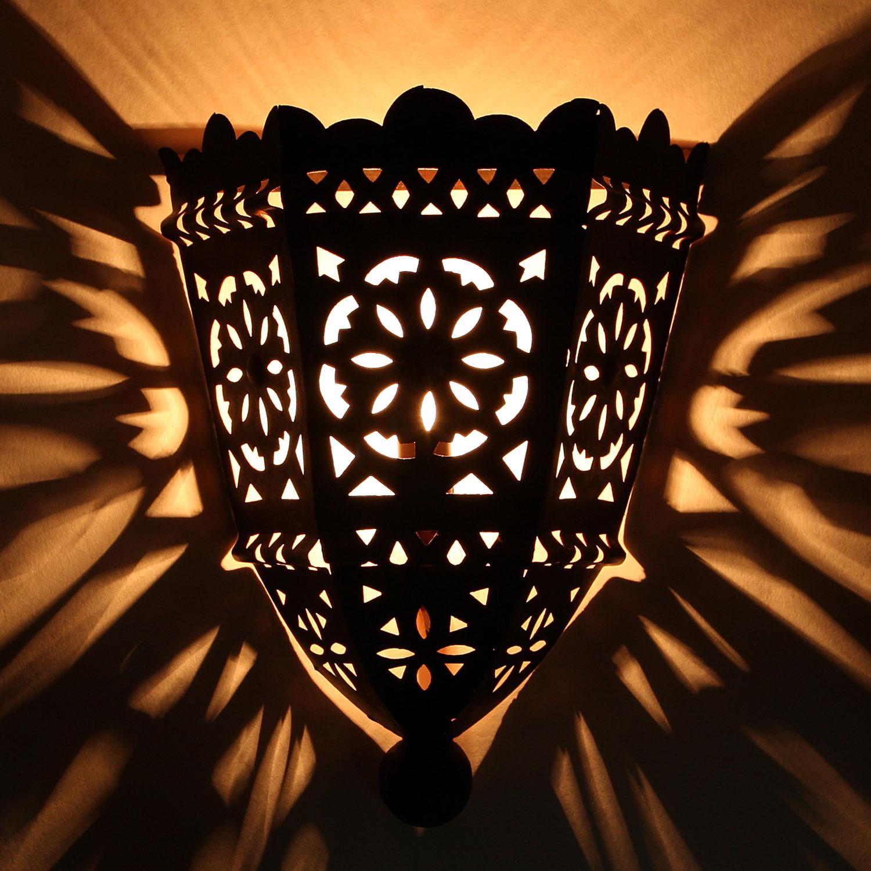 Orientalische eisen wandlampe ewl10 bei ihrem orient - Orientalische wandlampe ...