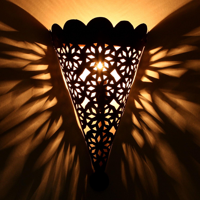Orientalische eisen wandlampe ewl11 bei ihrem orient - Orientalische wandlampe ...
