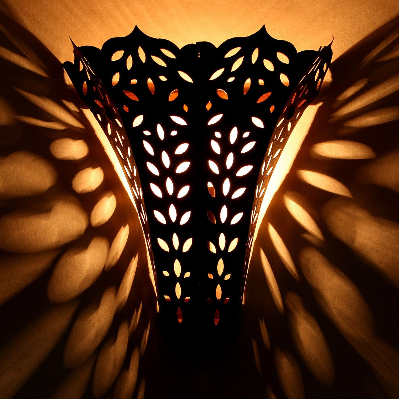 Orientalische eisen wandlampe ewl16 bei ihrem orient - Orientalische wandlampe ...