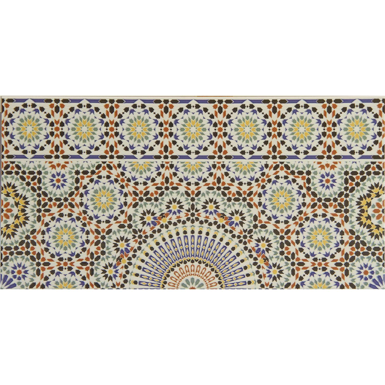 Marokkanische Fliesen-Bordüre Riad   bei Ihrem Orient Shop Casa-Moro