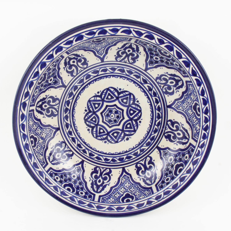 handbemalte keramikschale aus marokko f010 bei ihrem orient shop casa moro. Black Bedroom Furniture Sets. Home Design Ideas