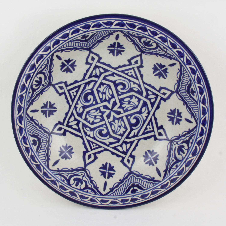 handbemalte keramikschale aus marokko f013 bei ihrem. Black Bedroom Furniture Sets. Home Design Ideas