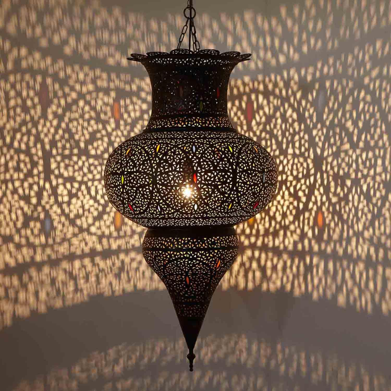H ngeleuchte marwah bei ihrem orient shop casa moro for Marokkanische messinglampen