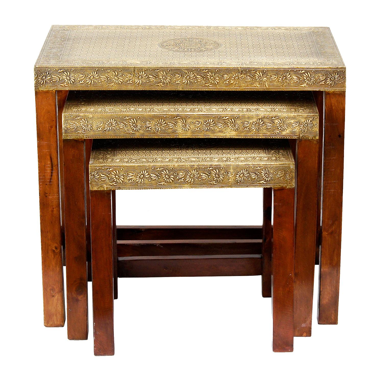 orientalische beistelltische lami 3er set bei ihrem orient shop casa moro. Black Bedroom Furniture Sets. Home Design Ideas