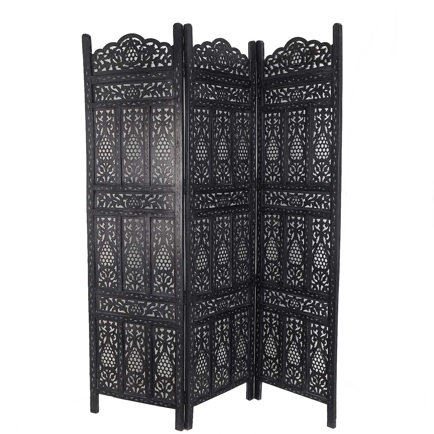 orient holz paravent alqamar bei ihrem orient shop casa moro. Black Bedroom Furniture Sets. Home Design Ideas