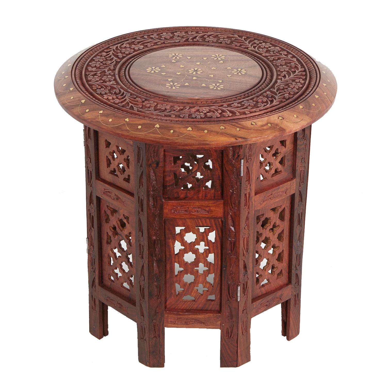 indischer beistelltisch nail mittel orientalische m bel messing intarsien ebay. Black Bedroom Furniture Sets. Home Design Ideas