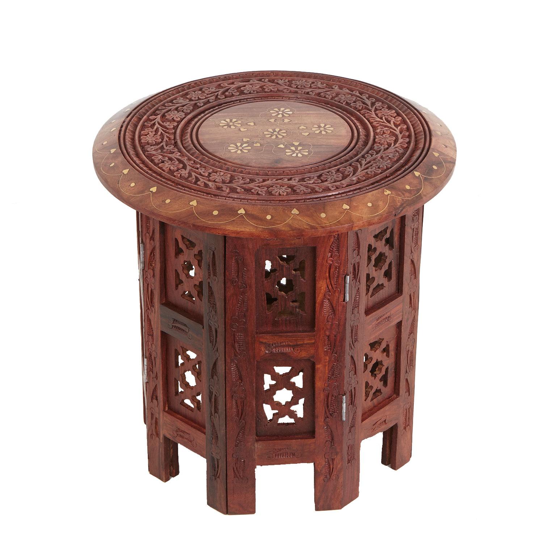 Orientalischer Beistelltisch Nail Holz Marokkanischer Arabischer