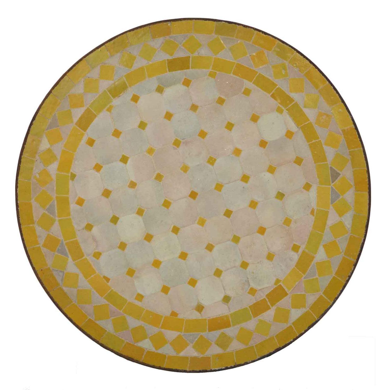 mosaik beistelltisch 45 cm gelb raute bei ihrem orient shop casa moro. Black Bedroom Furniture Sets. Home Design Ideas