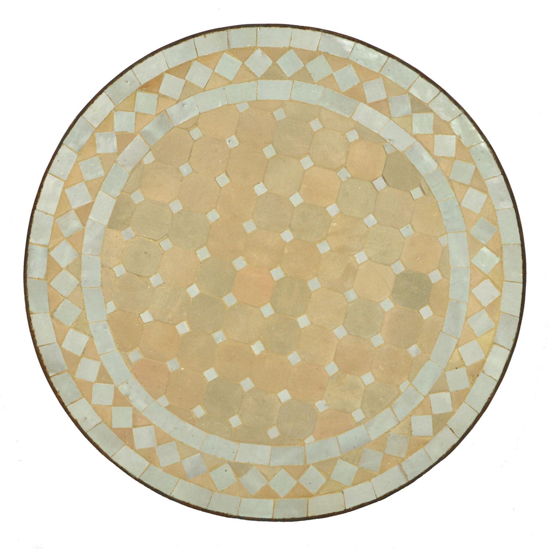 Mosaik beistelltisch 45cm weiss raute bei ihrem orient for Mosaik beistelltisch