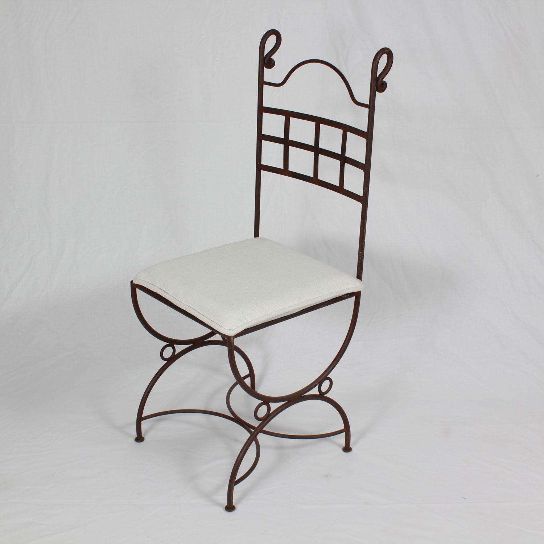 schmiedeeiserner stuhl nabil bei ihrem orient shop casa moro. Black Bedroom Furniture Sets. Home Design Ideas