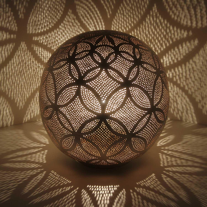silber stehlampe luxor d32 bei ihrem orient shop casa moro. Black Bedroom Furniture Sets. Home Design Ideas