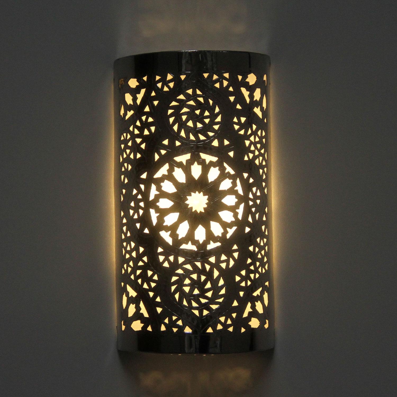 silber wandlampe amira bei ihrem orient shop casa moro. Black Bedroom Furniture Sets. Home Design Ideas