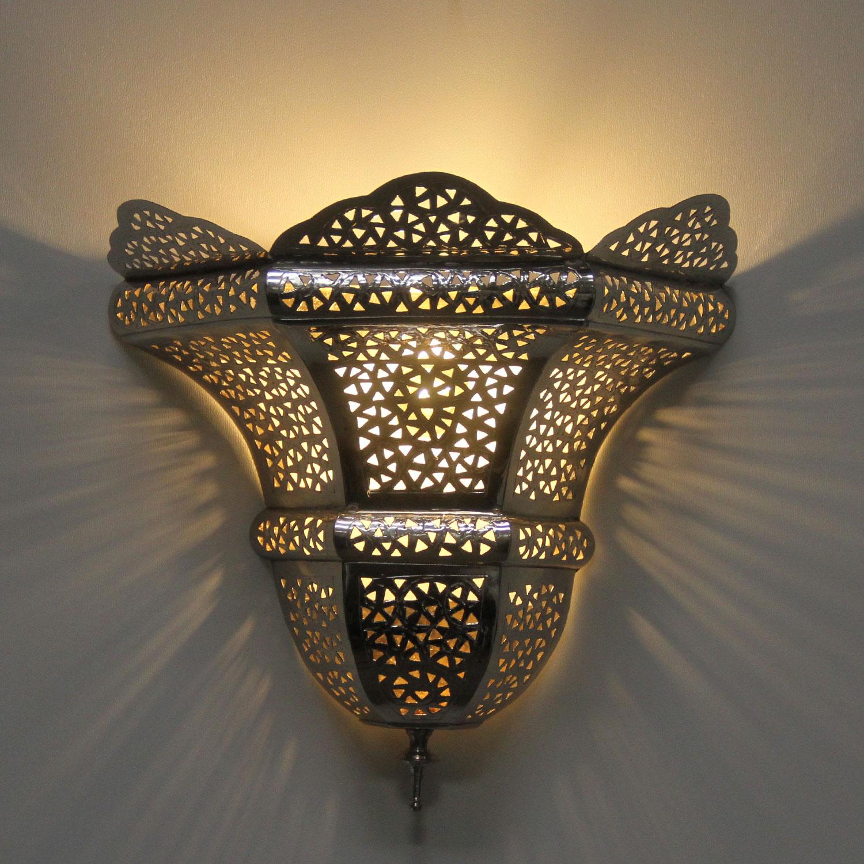 silber wandlampe sude bei ihrem orient shop casa moro. Black Bedroom Furniture Sets. Home Design Ideas