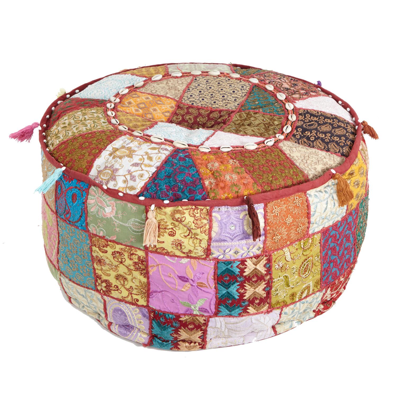 sitzkissen brokat patchwork bei ihrem orient shop casa moro. Black Bedroom Furniture Sets. Home Design Ideas