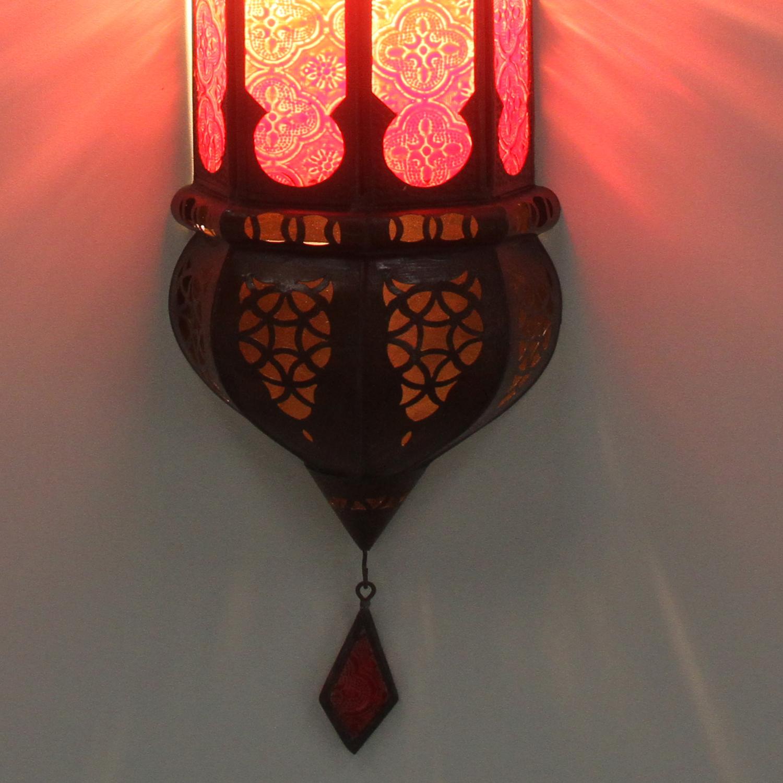 Marokkanische wandlampe ruya rot bei ihrem orient shop for Marokkanische wandlampe