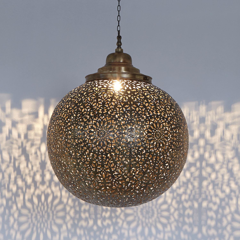 messinglampe marokkanisch orientalisch deckenleuchte. Black Bedroom Furniture Sets. Home Design Ideas