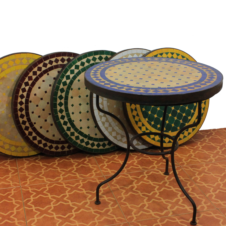 mosaik beistelltisch 45cm weiss raute mediterraner marokkanischer gartentisch ebay. Black Bedroom Furniture Sets. Home Design Ideas