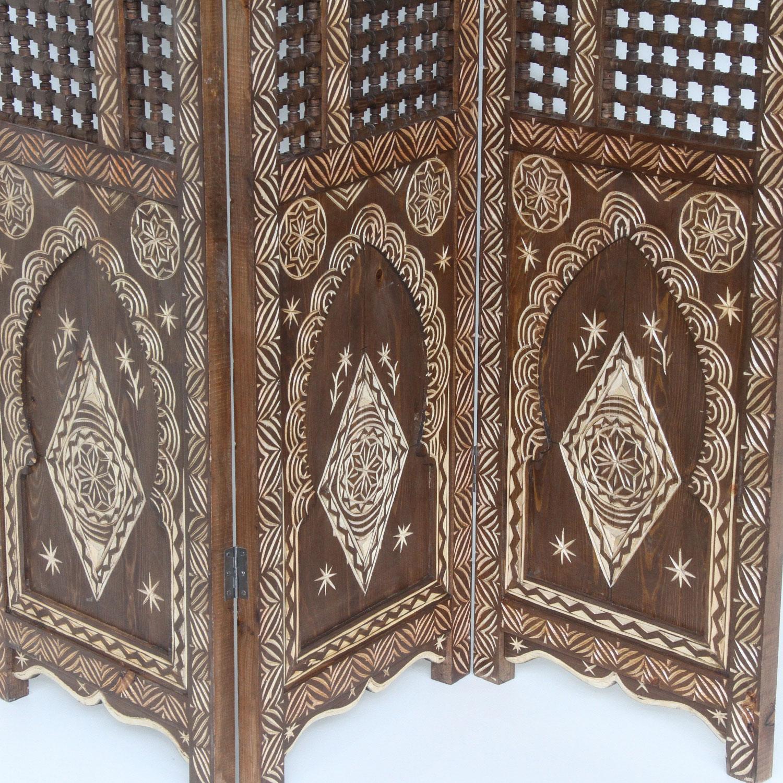 Holz Paravent Habel Bei Ihrem Orient Shop Casa Moro