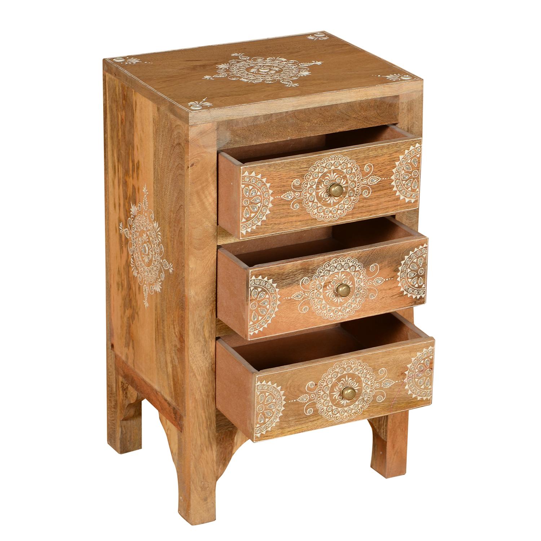 orientalische handbemalte kommode ranbir bei ihrem orient shop casa moro. Black Bedroom Furniture Sets. Home Design Ideas