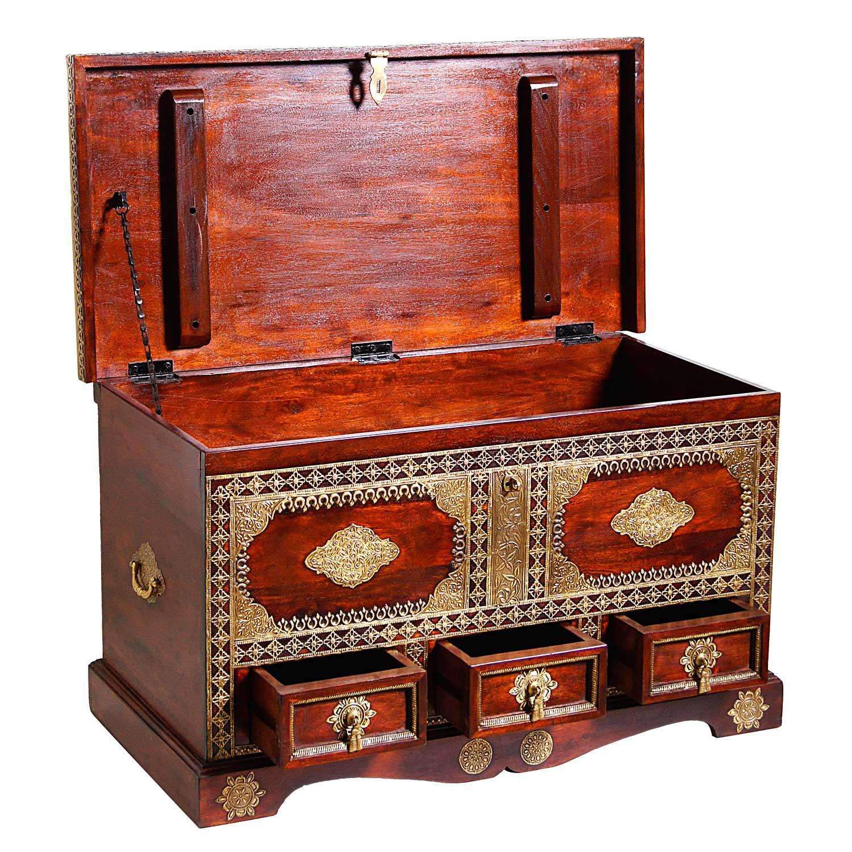 orientalische holztruhe sumati bei ihrem orient shop casa moro. Black Bedroom Furniture Sets. Home Design Ideas