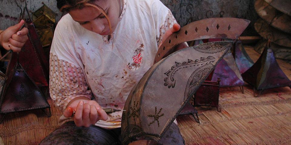 Lederlampen aus Marokko