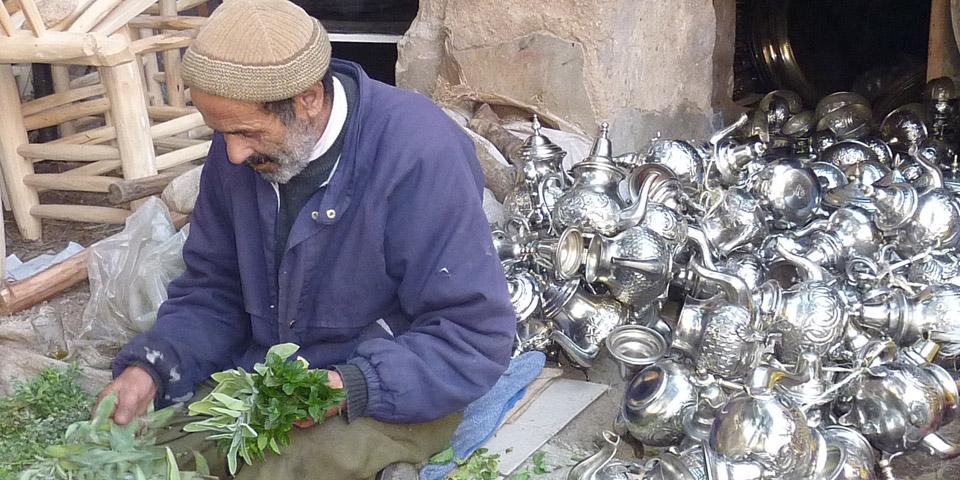 Marokkanische Teeaccessoires